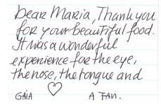 a message from 'a fan'