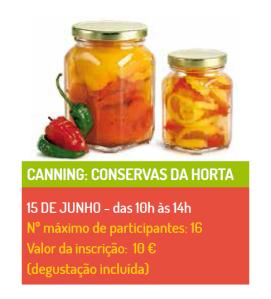Canning-conservas da horta