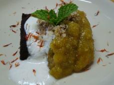 Carob cake & Fig Dessert