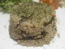 Quinoa com alga Aramê